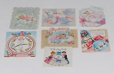 Vintage Baby Congratulation Cards Lot Of 7  Used