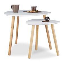 Relaxdays 10020988 Set 2 tavolini sovrapponibili da salotto Design Nordico