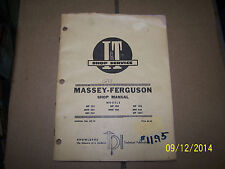 MF MASSEY FERGUSON, MH,MHF 303,333,404, 406,444, 1001 TRACTOR REPAIR  MANUAL