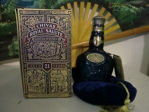 Chivas Regal Royal Salute 21 Jahre Blau Paper Seal 40% 375ml Japanimport