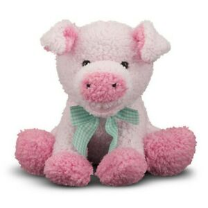 Melissa & Doug Meadow Medley Pig w/ Sound All Ages Piggy Toy Baby Piglet NEW !
