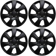 "4 Pc Set of 16"" Matte Black Hub Caps for Oem Steel Wheel Cover Center Cap Covers (Fits: Saturn)"