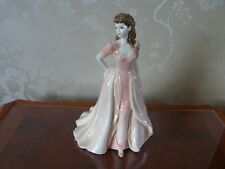 """COALPORT FIGURINE """" JACQUELINE"""" DRESSED IN A FLOWING PALE PINK AND PEACH  DRESS"""
