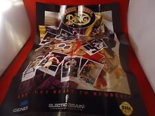Boxing Legends of the Ring Sega Genesis Foldable  00004000 Promo Poster Insert Only
