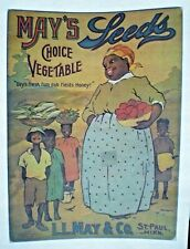 "1975 Iron-On Heat Transfer ~ May'S Seeds ~ ""Dey'S Fresh Fum Dah Fields Honey!"""