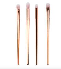 4Pc Pro Rose Gold Makeup Brushes Blending Brush Tool Kit Set