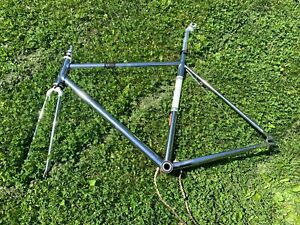 Chrome Felt Brougham Track Frame/Fork (MD/54cm) w/ GXP Bottom Bracket & Seatpost
