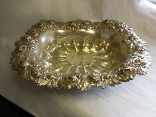 WOODSIDE STERLING SILVER BOWL WITH HIGHLY RAISED ROSE BUD DECORATION