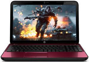 "HP Red Pavilion G6 Gaming Laptop 15.6"" Intel Core i5 3.10Ghz, Webcam, Windows 10"