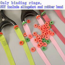 Strong Elastic Binding Rings for Flat Rubber Band Slingshot Catapult