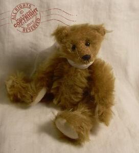 "Wonderful Floppy MOHAIR Artist Teddy BEAR 6"" Miniature OOAK Cathy Peterson RBCo"