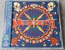 MEGADETH Capitol Punishment Japan Promo CD with OBI & Stikers Sample 1St Press