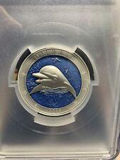2019 Barbados $5 Dolphin PCGS MS69 w / OGP *Beautiful 3 Oz Silver 999 Mintage!
