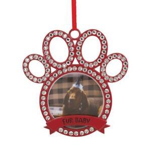 Hallmark FUR BABY Pets Paw Metal Photo Frame Christmas Tree Ornament Decoration