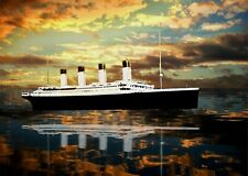 Titanic ship framed picture no. 7, large ready to hang published  fine art