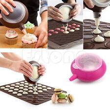 Silicone Macaron Baking Decorating Pen Pastry Cream Cake Muffin 5 Nozzle Kit Set