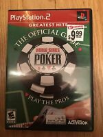 WORLD SERIES OF POKER GREATEST HITS - PS2 - COMPLETE W/MANUAL - FREE S/H (M)