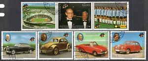 602b - Paraguay 1989 - Cars - The 40th Ann. of the Germany - Used Set + Label