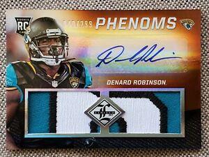 DENARD ROBINSON 2013 Leaf Limited Phenoms AUTO GU PATCH  RC #ED /299 Card #206