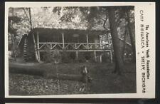 RP Postcard SHELBY Michigan/MI  Youth Camp Miniwanca Log Cabin Lodge 1930's