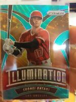 2020 Panini Prizm Baseball Shohei Ohtani Teal Wave Illumination