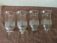 Set Of 4 Tall Embossed Parklane Votive Cup Candle Holders Homco Home Interior