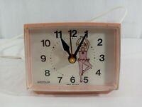 Vintage Westclox Youth Time Dialite Pink Ballerina Model #22272 Alarm Clock