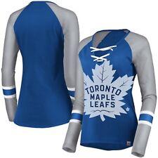 Женские Toronto Maple Leafs величественные на шнуровке реглан футболка с длинным рукавом