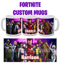 Personalised Fortnite mug brand new season / chapter Marvel skins Christmas Gift