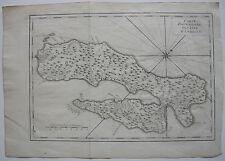 Insel Ambon Molukken Malaku Indonesien Orig Kupferstichkarte Bellin 1750