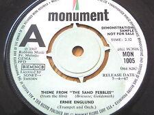 "ERNIE ENGLUND - THEME FROM ""THE SAND PEBBLES""  7"" VINYL DEMO"