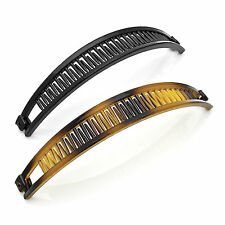 2 x BANANA CLIP FISH tail CLIP HAIR CLIP HAIR COMB tortoise black ha28606