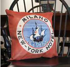 MILANO  NEW - YORK HOTEL canvas decor pillow / new