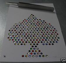 AS de pique  10cm STRASS multicolor hotfix iron-on thermocollant