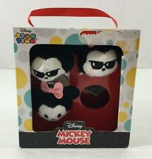 Disney Tsum Tsum Mickey Minnie Mouse Stackable Plush Set Of 3 NIB Soft Cuddly