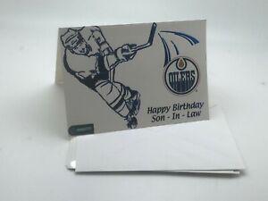 "Edmonton Oilers Logo Birthday Card: ""Happy Birthday Son- In-Law"" I 90 Logo"