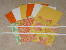 Stampin Up & K & Company Handmade Collection Yellow Glitter Card Kit *6* New