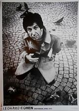 LEONARD COHEN Amsterdam April 1972 33 X 23 Inch Black And White POSTER