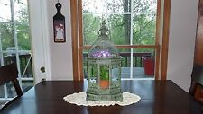 Terrarium w/ beveled round top glass & all metal & glass