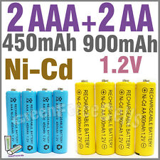 2 AA + 2 AAA 900mAh 450mAh Ni-Cad Ni-Cd rechargeable battery YB1