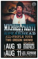 MICHAEL FRANTI SPEARHEAD 2013 Gig POSTER Bend Edgefield Portland Oregon Concert