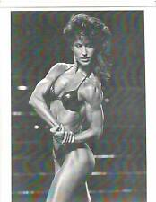 Ms Olympia Rachel McLish Female Side Chest Pose Bodybuilding Muscle Photo B+W