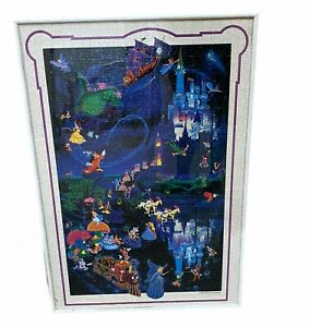 Disneyland Tokyo Framed Jigsaw Puzzle 29 x 20 Cinderella Beauty and the Beast