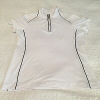 EP PRO TOUR TECH GOLF Womens Short Sleeve Zip Up Shirt Sz S Airvents Sports