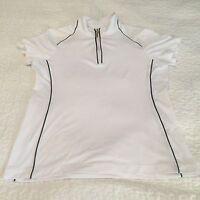 EP PRO TOUR TECH GOLF Womens Short Sleeve Zip Up Shirt Sz S Airvents Sports