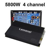 Super High 5800W 12V 4 Channel Car Audio Power Stereo Amplifier HiFi Sub hn
