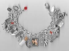 SUPERNATURAL Inspired Charm Bracelet Altered Art  Loaded  Amulet  Salt  Gift Bag