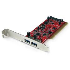Startech.com Pciusb3s22 tarjeta adaptador PCI USB 3.0 Superspeed de 2 Puertos...