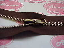AUTOLOCK Antique Gold SLIDER FOR No8 METAL OR BRASS TOOTHED ZIP ZIP NOT SUPPLIED