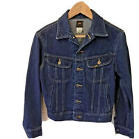 LEE Mens Denim Jacket Blue Button Down Collared Long Sleeve 36R